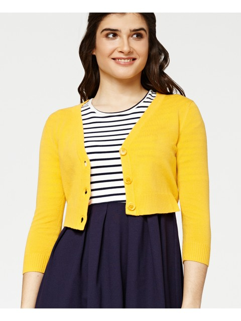 Penny Honey Cropped Cardigan